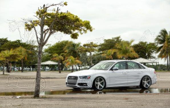 Картинка Audi, Ауди, белая, Vossen