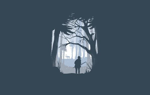 Картинка человек, минимализм, олень, лук, The Last of Us, Naughty Dog, Одни из нас, Sony Computer …