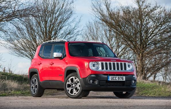 Картинка джип, внедорожник, Jeep, UK-spec, Limited, 2015, Renegade