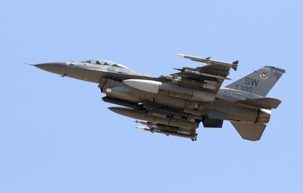 Картинка оружие, армия, самолёт, Lockheed (GD) F-16CM Viper