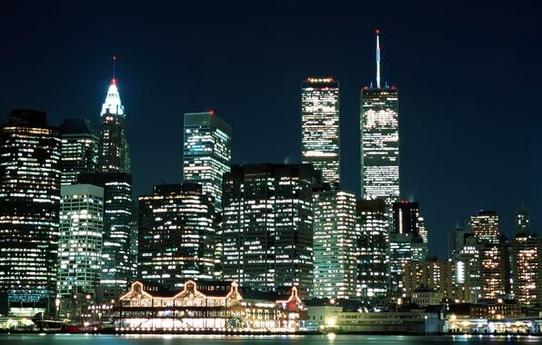 Картинка Вечер, Нью-Йорк, Огни