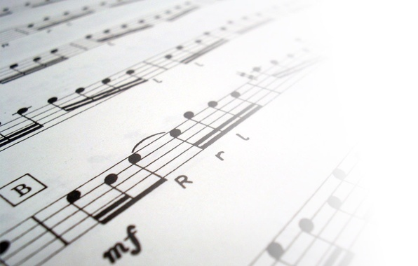 Картинка black&white, вперед, будущее, ноты, музыка