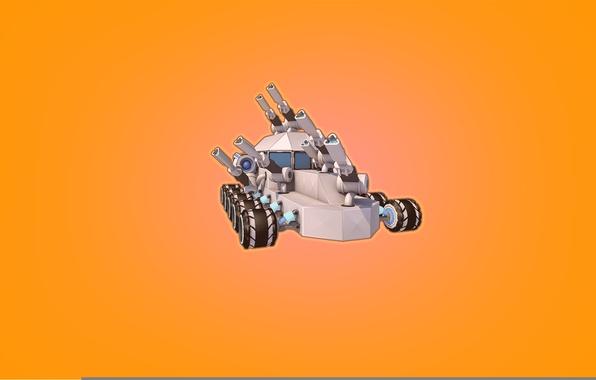 Картинка Минимализм, Игра, Машина, Куб, Танк, Game, Робокрафт, Крафт, Robocraft