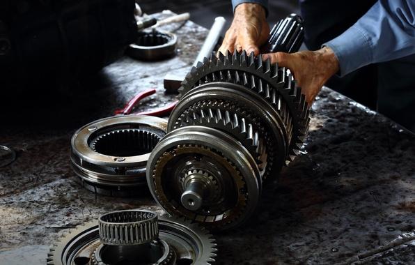 Картинка metal, gears, engine