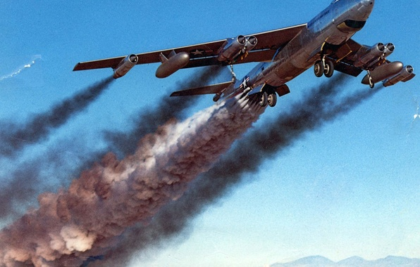 Картинка самолет, Boeing, B-47B
