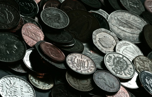 Картинка макро, деньги, монеты, валюта