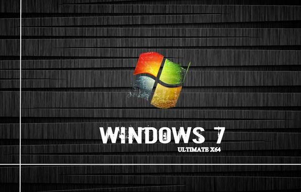 Картинка Windows 7, ultimate x64, box icons, shelve