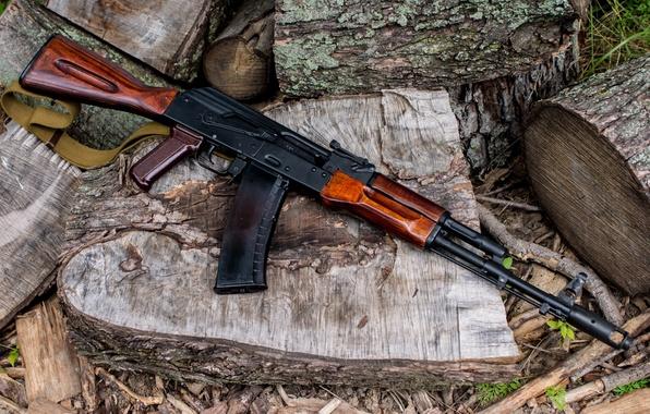 Картинка оружие, фон, автомат, Калашникова, Ак-74