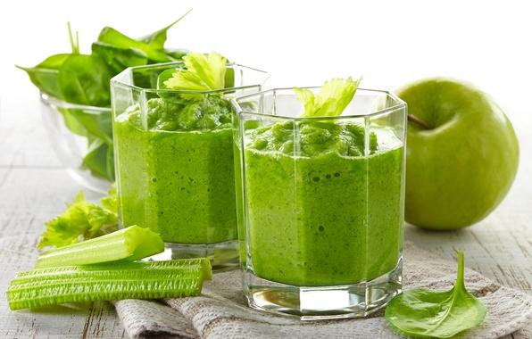 Картинка зелень, Apple, яблоко, овощи, vegetables, greens, овощной смузи, пюре, mashed potatoes, vegetable smoothies