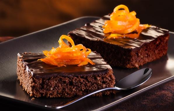 Картинка апельсин, еда, шоколад, десерт, выпечка, пирожные, сладкое