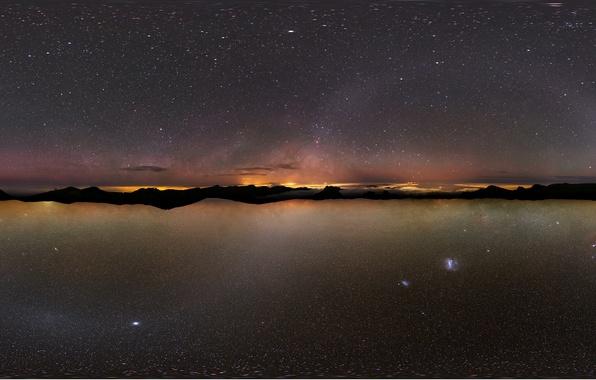 Картинка небо, звезды, Млечный путь, острава, Атакама., Канарские