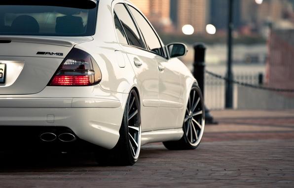 Картинка белый, Mercedes, Benz, мерседес, AMG, Class