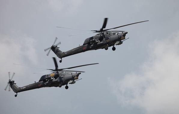 Картинка вертолет, ввс россии, Ми-28Н, Havoс, пилотажная группа Беркуты