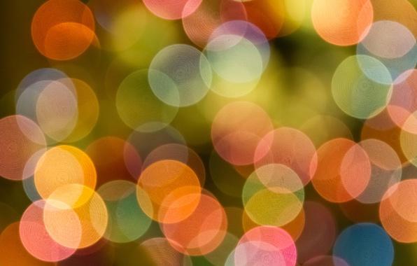Картинка свет, круги, фон, краски, цвет