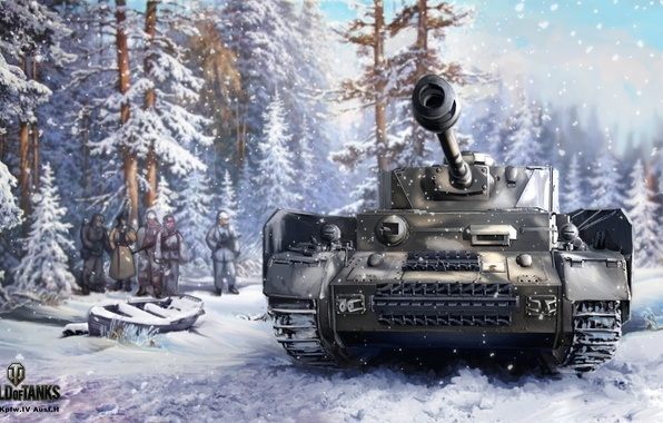 Картинки на рабочий стол немецкий танк зимой
