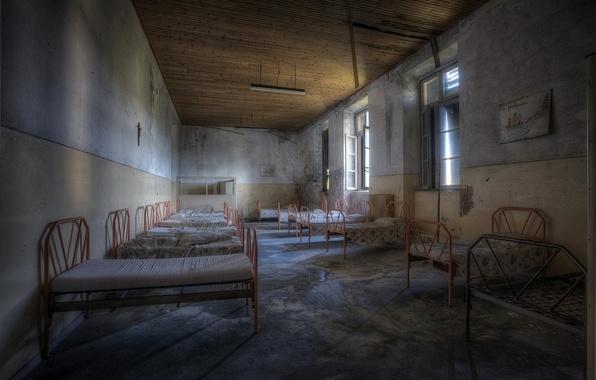 Картинка фон, больница, койки