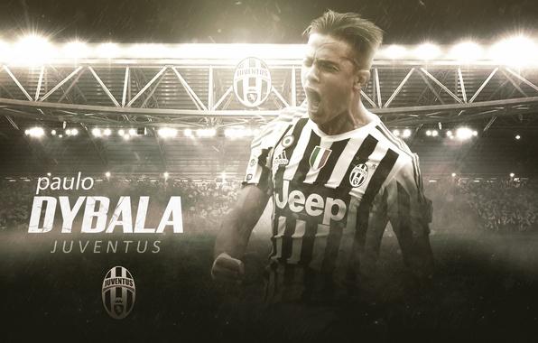 Картинка wallpaper, sport, stadium, football, player, Paulo Dybala, Juventus FC, Juventus Stadium
