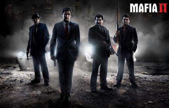 "Картинка оружие, Mafia 2, Vito Scaletta, Edoardo ""Eddie"" Scarpa, Joe Barbaro, Henry Thomasino"