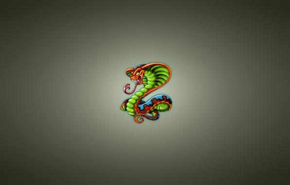 Картинка змея, минимализм, кобра, snake, cobra