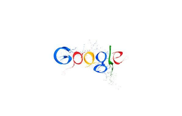 Картинка краски, белый фон, Google