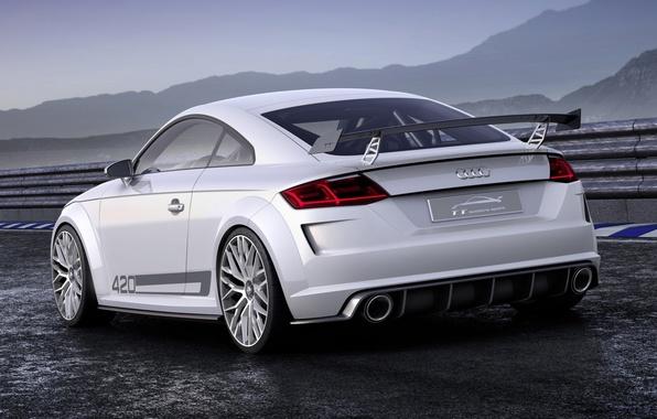 Картинка Audi, спорт, Ауди, concept, концепт, sport, вид сзади, quattro, кватро