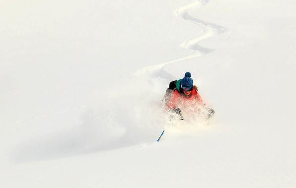 Картинка зима, снег, спорт