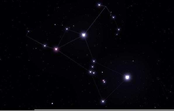 Картинка космос, звезды, созвездие, Орион