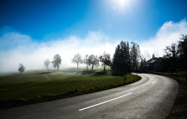 Картинка Austria, Road, Road to Nowhere, Curve