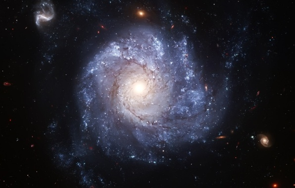 Картинка Хаббл, галактика, телескоп, спиральная, анфас