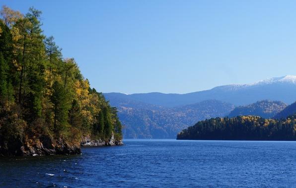 Картинка горы, Озеро, горный алтай, телецкое озеро