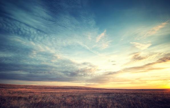 Картинка небо, облака, пейзаж, природа, восход солнца, Colorado, Boulder