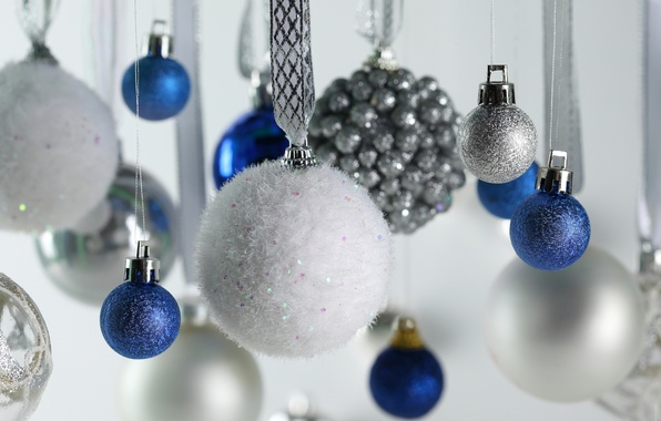Картинка шарики, украшения, новый год, рождество