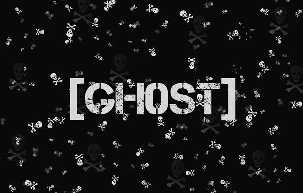 Картинка skull, black, ghost