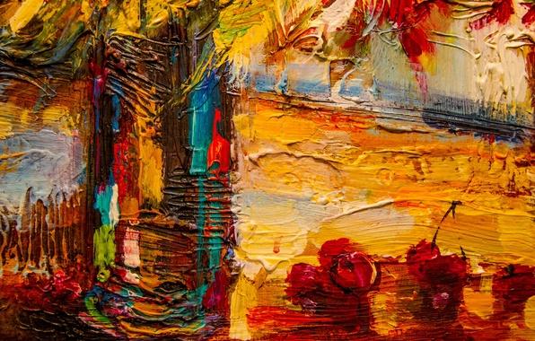 Картинка colorful, art, painting, cherries