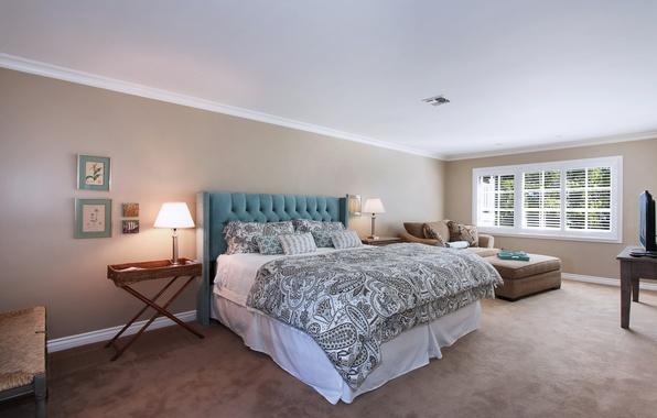 Картинка фото, Дизайн, Лампа, Кровать, Интерьер, Спальня