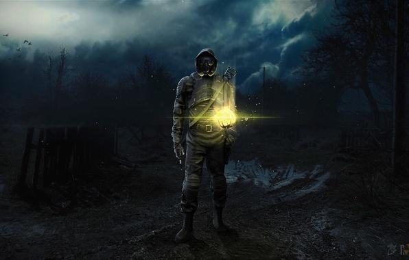 Фото обои арт, чернобыль, Stalker, сталкер, зона, фан арт