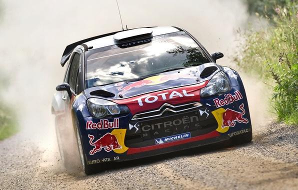 Картинка Авто, Спорт, Машина, Гонка, Ситроен, Капот, Citroen, Фары, Red Bull, DS3, WRC, Rally, Ралли, Передок