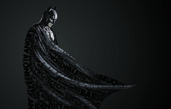 Картинка стиль, надписи, фон, widescreen, обои, Бэтмэн, wallpaper, Batman, style, широкоформатные, background, Wallpaper, полноэкранные, HD wallpapers, …