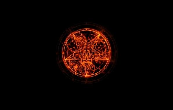 Картинка logo, game, пентаграмма, DooM III, Дум 3, pentagram