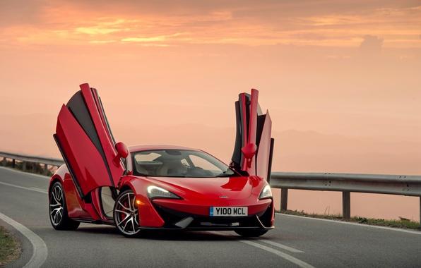 Картинка закат, McLaren, вечер, суперкар, макларен, 570S