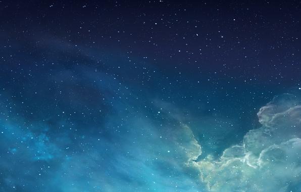 Картинка apple, goodfon, space, desktop, iphone, mac os, blue, beautiful, think, pretty, new, amazing, mavericks, cool, …