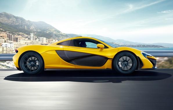 Картинка машина, небо, McLaren, вид сбоку, макларен, McLaren P1