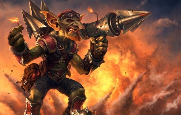 Картинка взрыв, оружие, фитиль, Warcraft, гоблин, Hearthstone, Goblins vs Gnomes, Hearthstone: Heroes of Warcraft