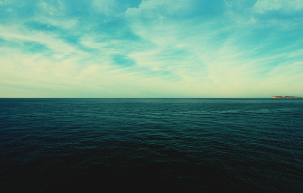 Картинка море, небо, вода, облака, пейзаж, природа, горизонт, sky, sea, landscape, nature, water, clouds, 2560x1600, horizon