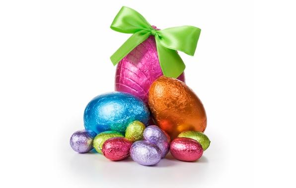 Картинка шоколад, яйца, конфеты, Пасха, chocolate, Easter, eggs