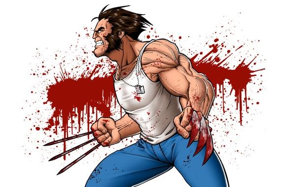 Картинка blood, wolverine, fury