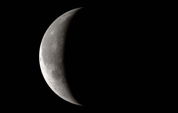 Картинка Луна, Земля, Спутник, Орбита, Фаза