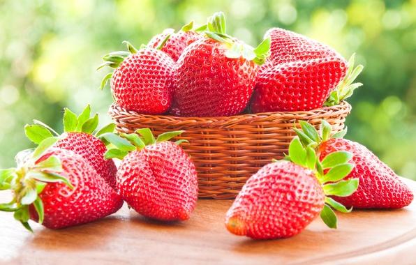 Картинка ягоды, клубника, red, корзинка, красная, fresh, спелая, sweet, strawberry, berries