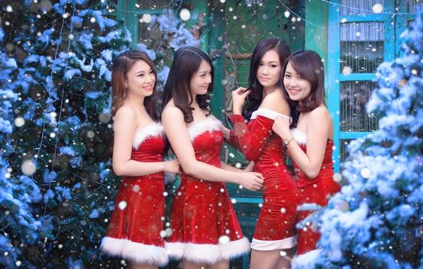 Картинка девушки, праздник, азиатки