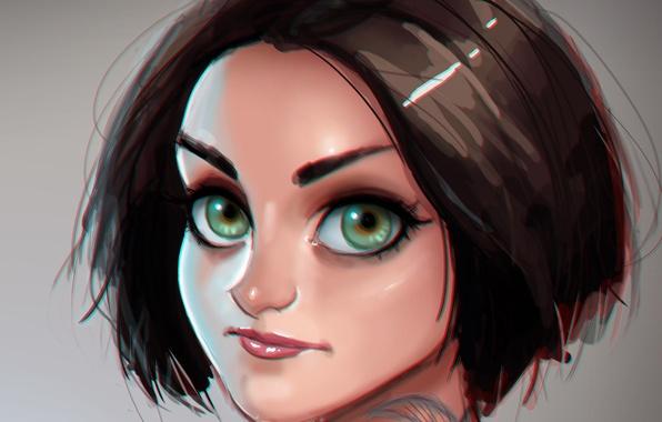 Картинка глаза, девушка, art, Jaimie Alexander, blindspot, Jane Doe